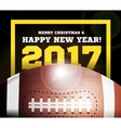 Happy New Year on the background of a ball for vector image vector image
