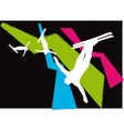 Ski Freestyle Silhouettes vector image vector image