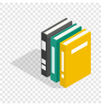 three books of encyclopedia isometric icon vector image