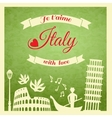 Italy retro poster vector image