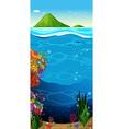 The underwater view of the ocean vector image