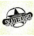 skateboard logotype grunge with star vector image