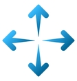 Expand Arrows Gradient Icon vector image