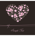 Beautiful floral heart vector image