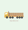 cargo delivery vehicle truck vector image