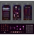 Crazy Space Arcade Asset vector image
