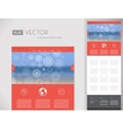 Flat Website Design Template vector image