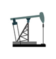 Oil rig Oil pumps Equipment for the oil in vector image