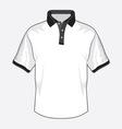 Polo majica crna kragna vector image