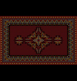 Luxury carpet with ethnic ornament on maroon vector image