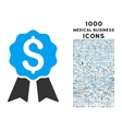 Banking Award Icon with 1000 Medical Business vector image