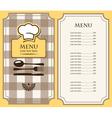 menu has vector image