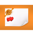 Elegant greeting background with hearts and gold vector image