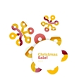 Christmas colorful geometric abstract background vector image vector image