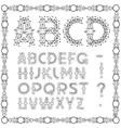 Calligraphic Swirly alphabet vector image
