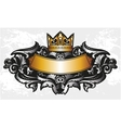 Decorative frame with crown vector image