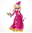 Princess in pink vector image vector image