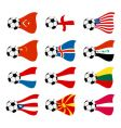 national soccer flags vector image vector image