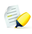 yellow marker vector image vector image