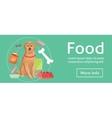 Dog food baner eps10 vector image