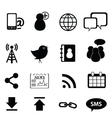 media technoloogy icons vector image vector image