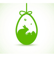 decorative Easter egg vector image