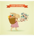 Easter vintage style greeting card vector image