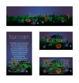 Four magic cards with floral ornament vector image