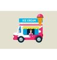 Ice cream car icon Cold milk product vanilla vector image