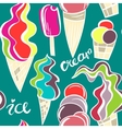 Juicy ice cream cones pattern vector image