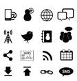 media technoloogy icons vector image