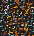 Musical background from notes vector image