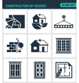 Set of modern icons Construction of houses vector image