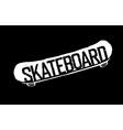 skateboard vintage logotype vector image