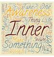 Inner Awareness text background wordcloud concept vector image