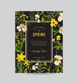 vintage summer and spring floral frame vector image vector image