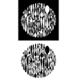 Circle shape made of cutlery icons vector image vector image