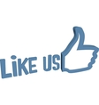 Social media thumb up like word vector image vector image