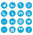 italy black icon blue vector image