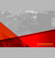 red grey background grunge vector image
