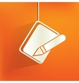 Notepad web iconflat design vector image vector image