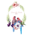 Nice frame with birds vector image