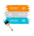 colorful brushes option banner vector image