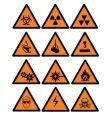 danger signs vector image vector image