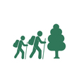 forest tourists icon vector image