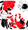 contrast floral background vector image