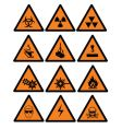 danger signs vector image