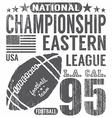 Football sport typography t-shirt Printing design vector image