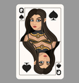 Queen of spades playing card vector image