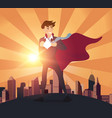 superhero businessman concept vector image